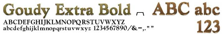 Goudy Extra Bold Cast Metal Letters